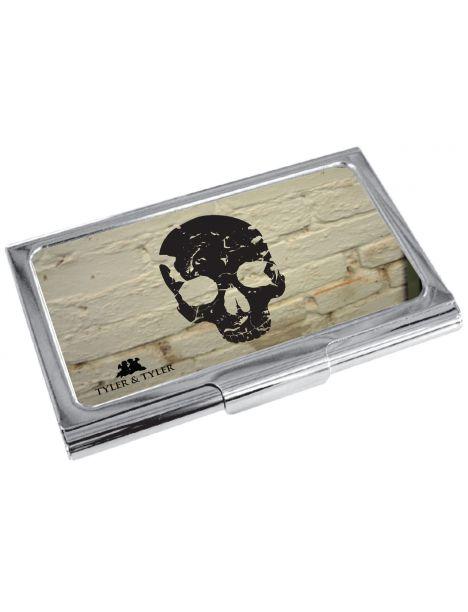 TCH9290WB- Porte cartes de visite T&T, Skull - White Brick Tyler & Tyler Porte cartes de visite