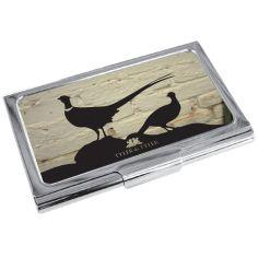 Porte cartes de visite T&T, Faisan White Brick Tyler & Tyler Porte cartes de visite