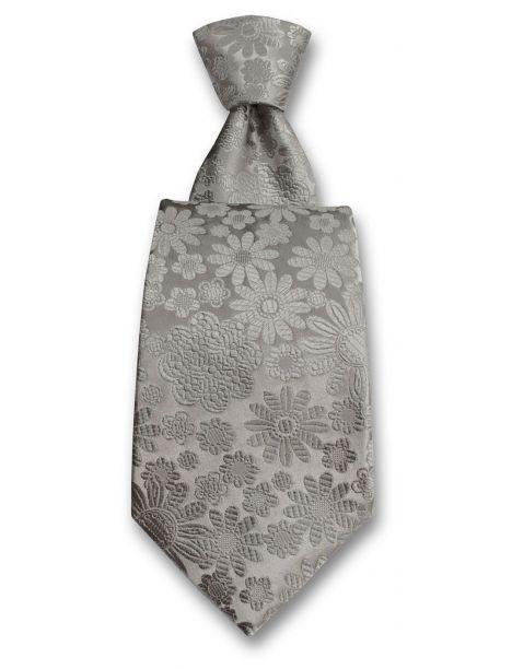 Cravate Robert Charles Pisa gris argent Robert Charles Cravates