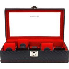 Ecrin 10 montres, Carbon, fibre de carbone intérieur rouge Friedrich 23 Ecrins