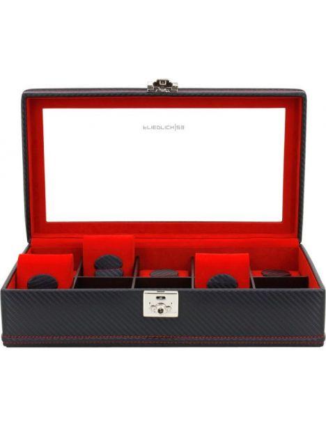 Ecrin 10 montres, Carbone, fibre de carbone intérieur rouge Friedrich 23 Ecrins