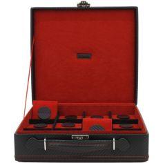 Malette 12 montres, CARBON, fibre de carbone