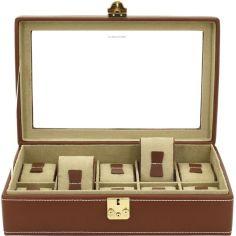 Ecrin 10 montres prestige, Cordoba, cuir marron camel Friedrich 23 Ecrins