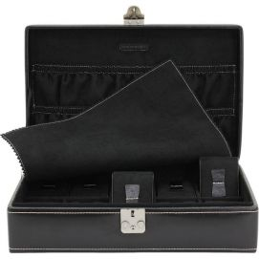 Ecrin 10 montres premium, London, cuir noir Friedrich 23 Ecrins