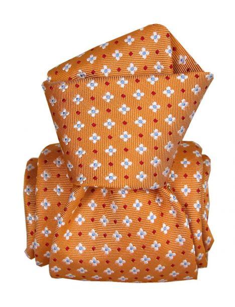 Cravate Segni Disegni LUXE, Faite main, Seville Orange Segni et Disegni Cravates