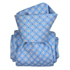 Cravate Segni Disegni LUXE, Faite main, Seville Bleu