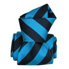 Cravate Segni Disegni LUXE, Faite main, Palma Bleu