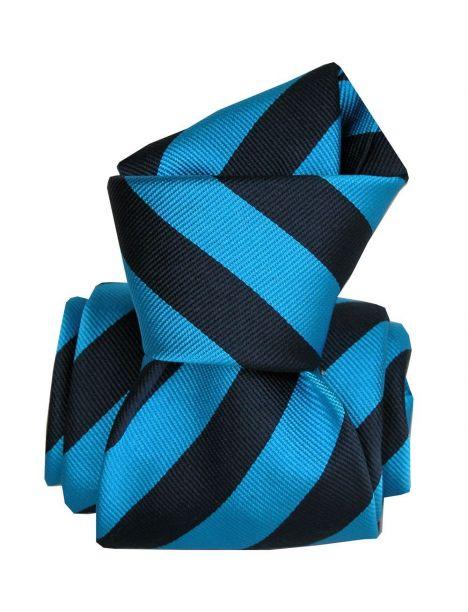 Cravate Segni Disegni LUXE, Faite main, Palma Bleu Segni et Disegni Cravates