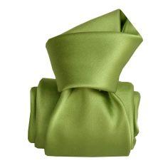 Cravate Segni Disegni LUXE, Faite main, Satin vert