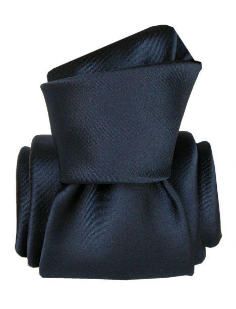 Cravate Segni Disegni LUXE, Faite main, Satin Marine Segni et Disegni Cravates