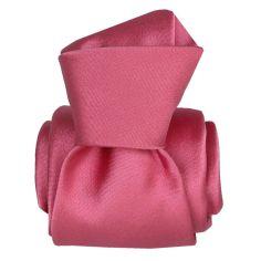 Cravate Segni Disegni LUXE, Faite main, Satin Rose Segni et Disegni Cravates