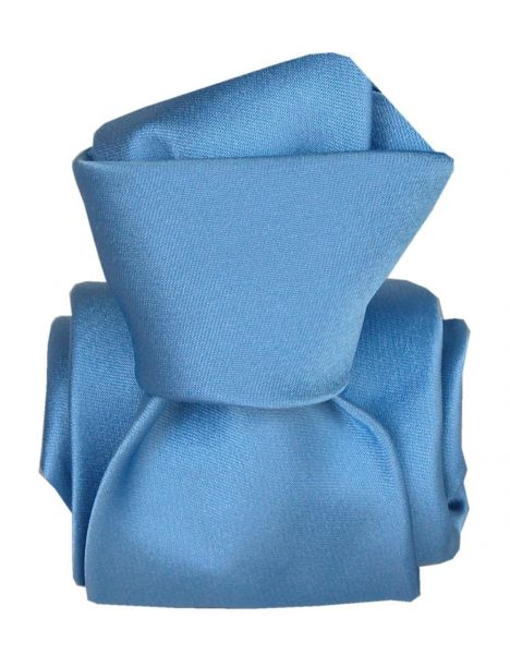 Cravate Segni Disegni LUXE, Faite main, Satin Bleu Segni et Disegni Cravates