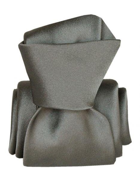 Cravate Segni Disegni LUXE, Faite main, Satin gris Segni et Disegni Cravates