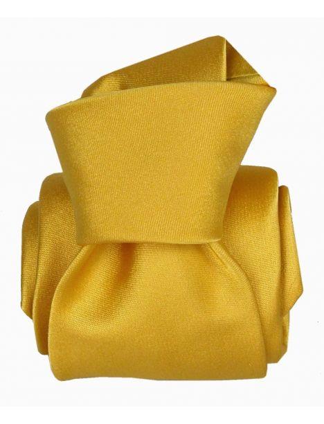 Cravate Segni Disegni LUXE, Faite main, Satin Jaune Segni et Disegni Cravates