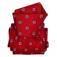 Cravate Segni Disegni LUXE, Faite main, Grenade Rouge