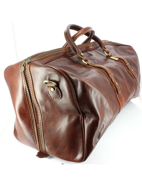 Augusto, sac voyage, Marron clair, Chestnut Natalizia Sac de voyage