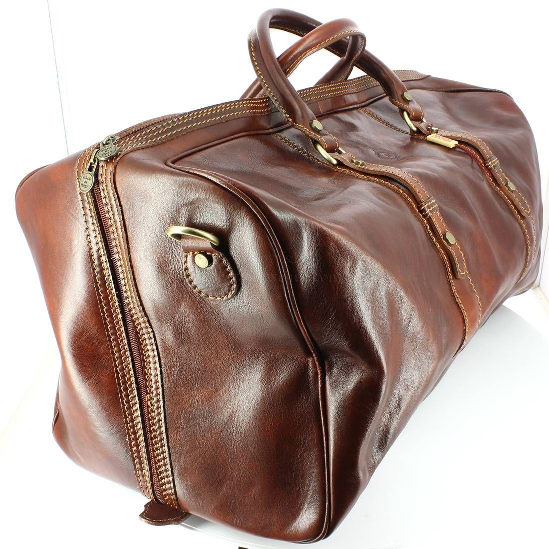 sortie d'usine outlet diversifié dans l'emballage Augusto, sac voyage, Marron clair, Chestnut