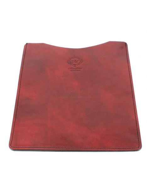 Etuis Ipad ou Tablette cuir, fait main,rouge Natalizia Etuis Tablettes