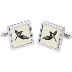"Bouton de Manchette ""Bird"", Oiseau."