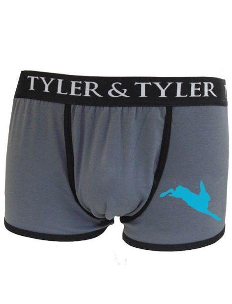 Boxer homme, lièvre bleu Tyler & Tyler Boxers Homme