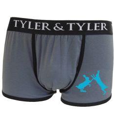 Boxer homme, 2 lièvres bleu