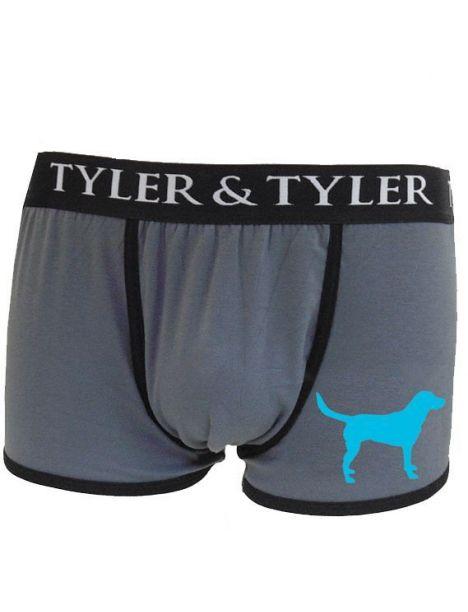 Boxer homme, labrador bleu Tyler & Tyler Boxers Homme