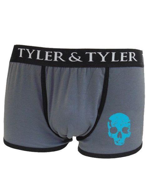 Boxer homme, tête de mort, bleu Tyler & Tyler Boxers Homme