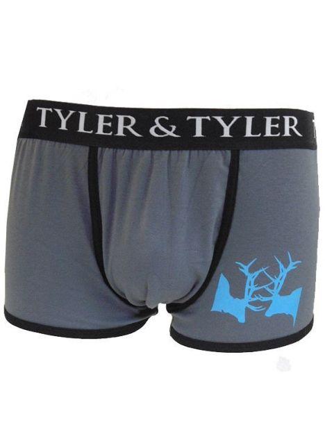 Boxer homme, combat de cerfs, bleu Tyler & Tyler Boxers Homme