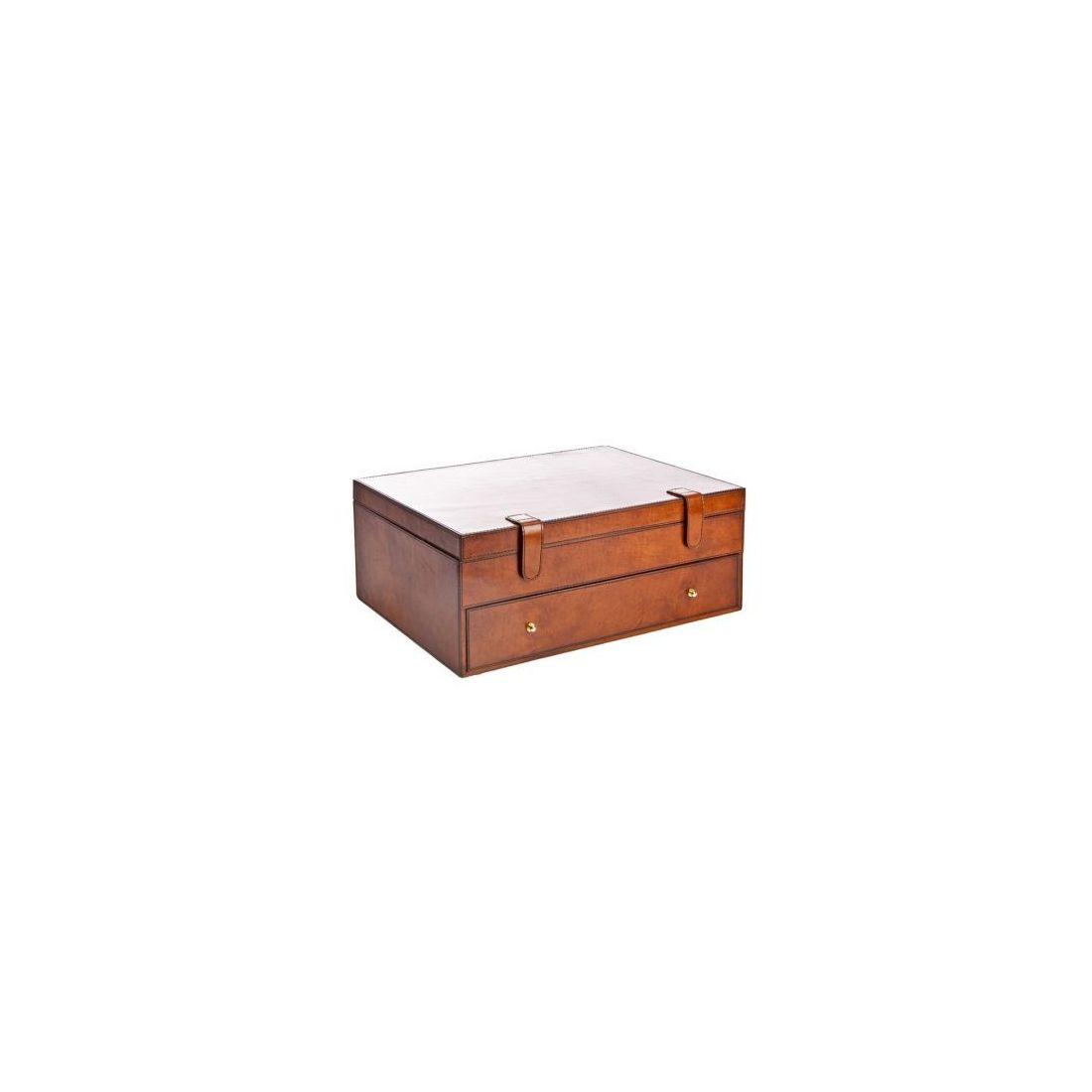 coffret rangement 24 cravates gregor cuir de buffle. Black Bedroom Furniture Sets. Home Design Ideas