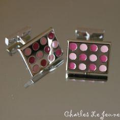 Bouton de Manchette CLJ, SEVENTIES Super Rose