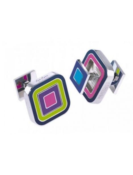 Boutons de manchette, R'versible, rose violet square Sonia Spencer Bouton de manchette