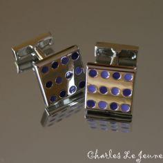 Bouton de Manchette CLJ, SEVENTIES Violet