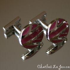 Bouton de Manchette CLJ, Union Jack Rose