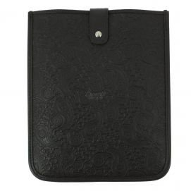 Housse Ipad cuir, Pailsey marron foncé, Simon Carter London Simon Carter Etuis Tablettes