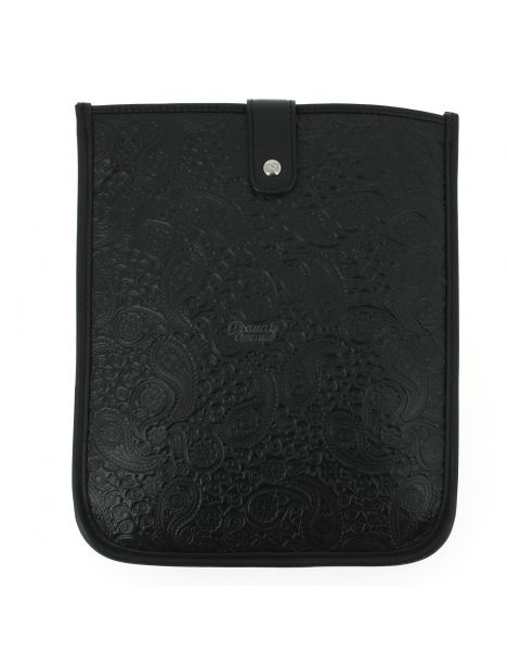 Housse Ipad cuir, Pailsey noir, Simon Carter London Simon Carter Etuis Tablettes