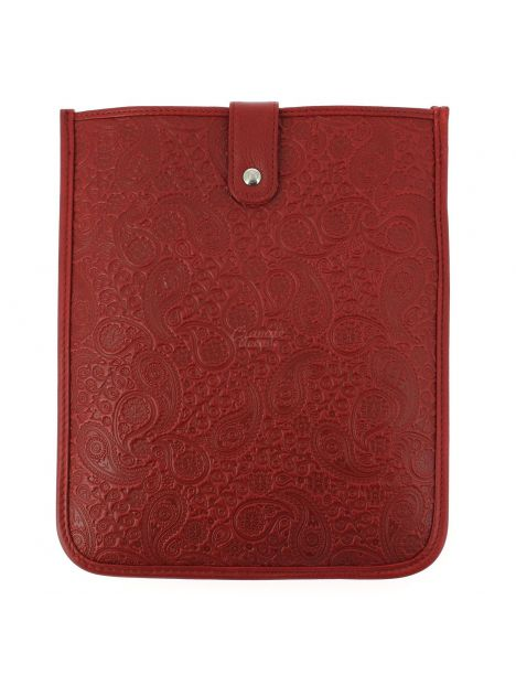 Housse Ipad cuir, Pailsey rouge, Simon Carter London Simon Carter Etuis Tablettes