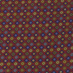 Foulard Ascot homme en soie, Victoria, cercles rouge