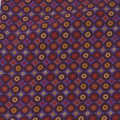 Foulard Ascot homme en soie, Victoria, cercles roses