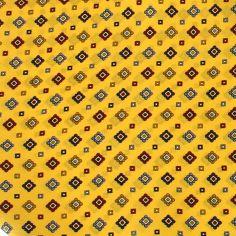 Foulard Ascot homme en soie, Sofia jaune bouton d'or