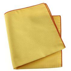 Pochette soie, Oro, ourlet orange