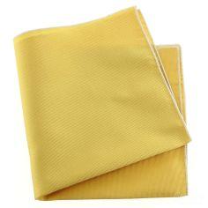 Pochette soie, Oro, ourlet blanc