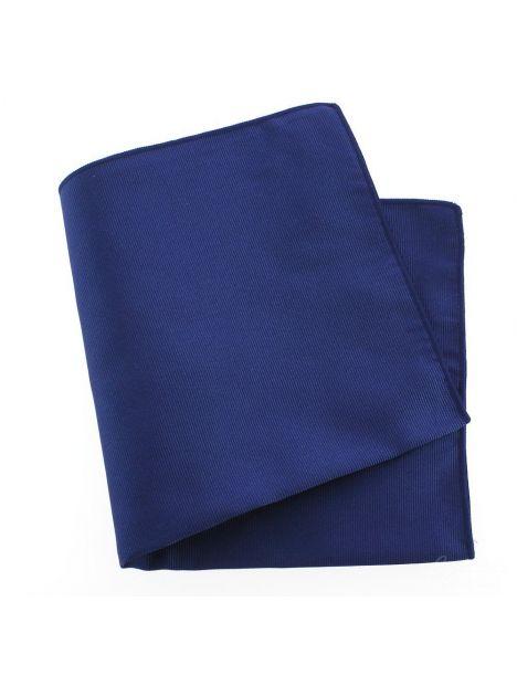 Pochette soie, Bleu royal, ourlet bleu royal Tony & Paul Pochettes