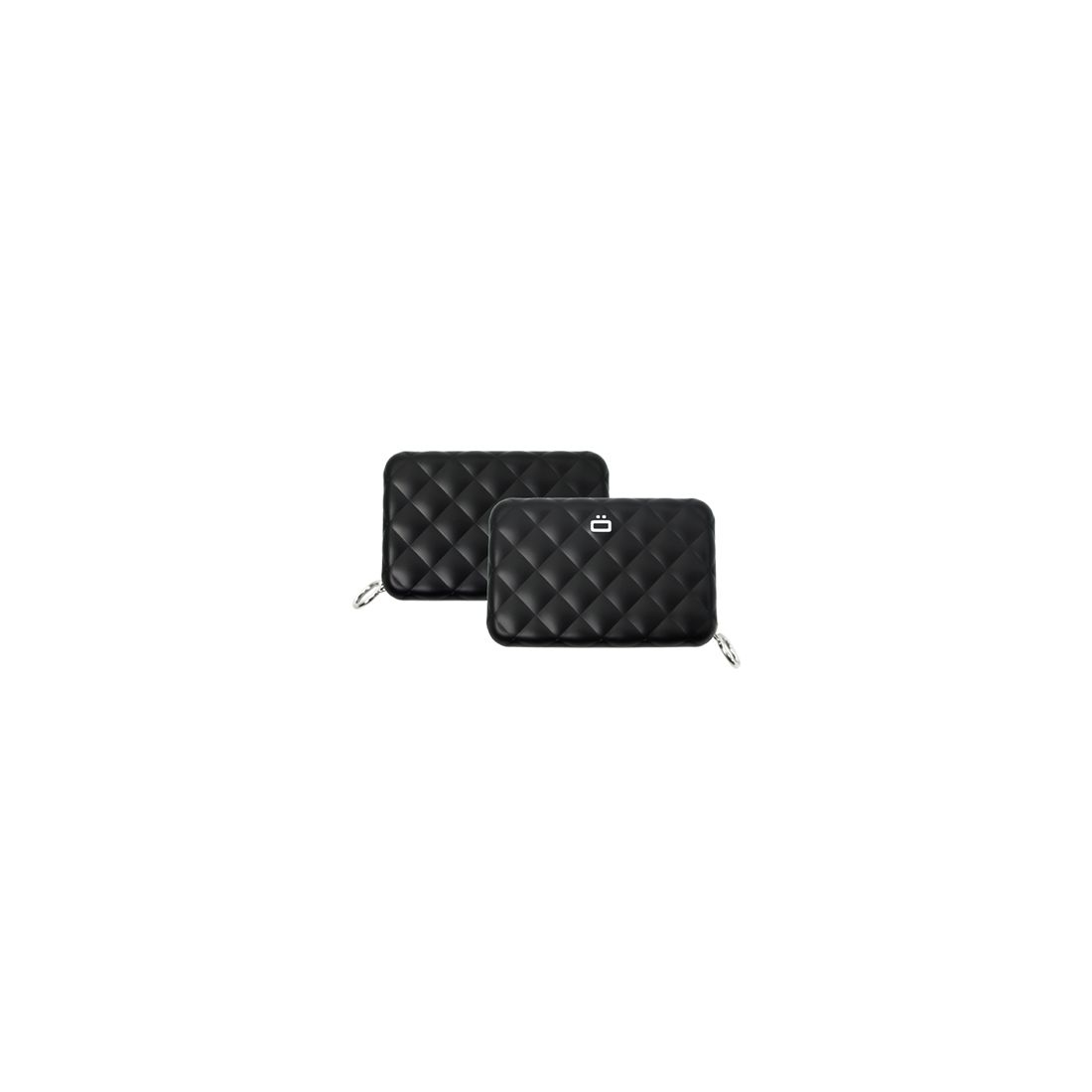 porte carte alu black quilted zipper 24 cartes ogon designs cravate. Black Bedroom Furniture Sets. Home Design Ideas