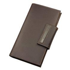 Portefeuille de voyage, passeport et cartes, cuir marron Dulwich