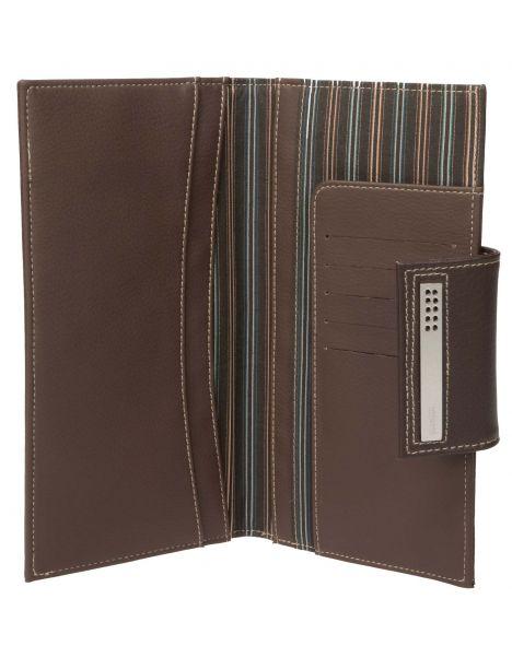 Portefeuille de voyage, passeport et cartes, cuir marron Dulwich Dulwich Designs Portefeuille Cuir