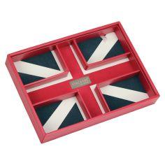 Boite de rangement empilable UK rouge, Modèle 2 Stackers UK Ecrins