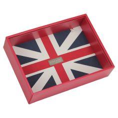 Boite de rangement empilable UK rouge, Modèle 1