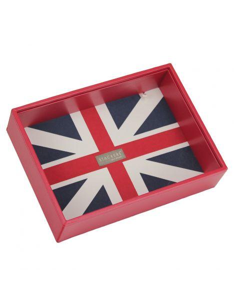 Boite de rangement empilable UK rouge, Modèle 1 Stackers UK Ecrins