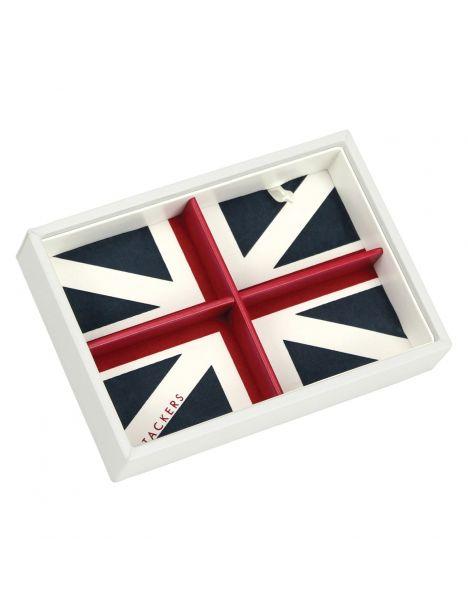 Boite de rangement empilable UK blanc, Modèle 2
