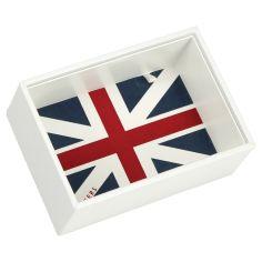 Boite de rangement empilable UK blanc, Modèle 1